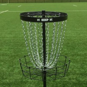 Keep disc golf basket black