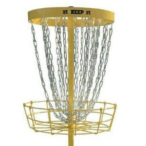 Keep disc golf basket yellow