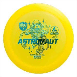 Discmania-Active-Premium-Astronaut-Yellow-Geel-Extreme-Distance-Maximum-Driver-for-Long-Shots-Flex-Turn-Roller-Shots-Kopen-Buy-at-Frisbeewinkel-Frisbeeshop-Disc-Golf-Frisbee