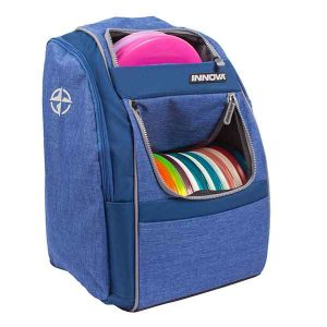 Innova-Excursion-Backpack-Bag-for-Disc-Golf-Frisbee-Stash-Tournament-and-Day-Trips-also-Good-for-Dog-Frisbee-Buy-at-Frisbeewinkel-Frisbeeshop-Blue-Blauw-Side-View