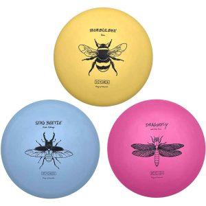 Frisbeewinkel Disc Golf Set-Bumblebee,-Stag-Beetle,-Dragonfly