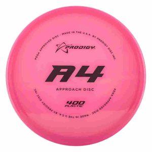Prodigy 400 A4 small diameter upshot disc golf disc pink